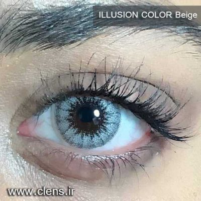 لنز رنگی ایلوژن رنگ بژ