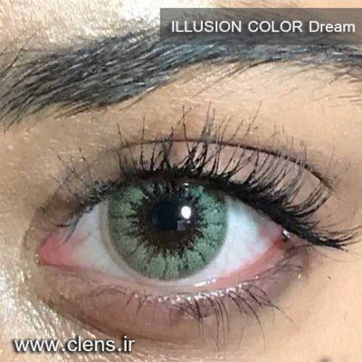 لنز رنگی ایلوژن رنگ سبز