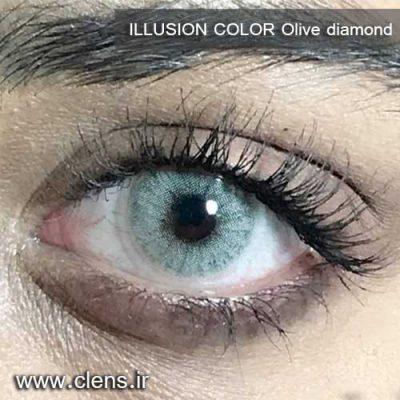 لنز رنگی ایلوژن رنگ طوسی