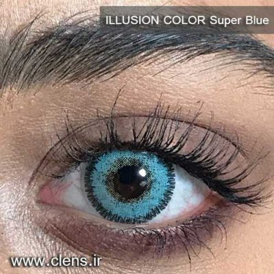 لنز رنگی ایلوژن رنگ آبی
