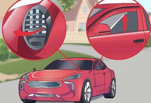 بستن پنجره سمت راننده و تغییر جهت دریچه کولر