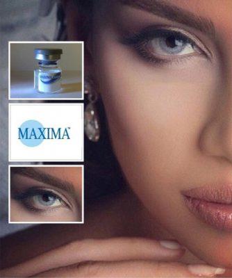 خرید لنز رنگ طوسی روشن و آبی برند ماکسیما