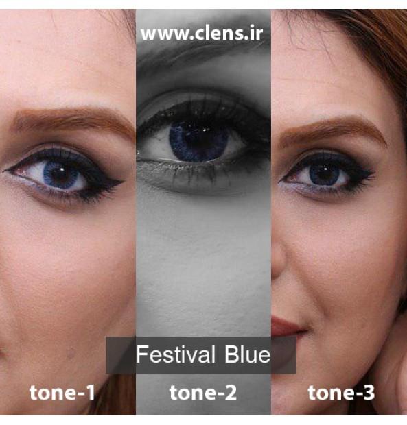 لنز آبی برند مورنینگ فستیوال