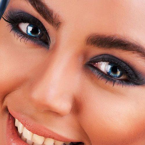 خرید لنز آبی تیره رنگ برلینت بلو برند ایر اپتیکس کالرز