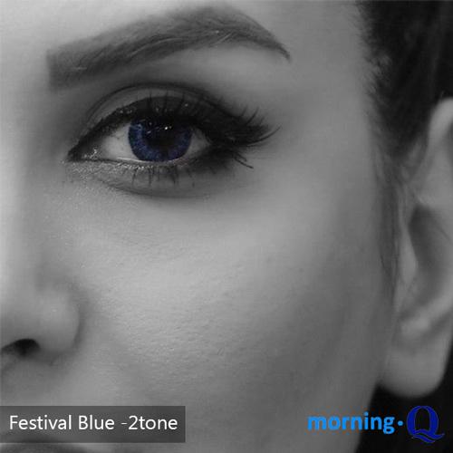 خرید لنز آبی تیره رنگ بلو تن 2 برند فستیوال