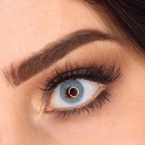 خرید لنز آبی سبز سالانه رنگ کُر بلوبرند نچرال