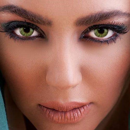 خرید لنز سبز دور مشکی رنگ جمستون گرین برند ایر اپتیکس کالرز