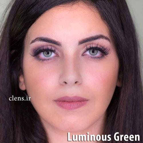 خرید لنز سبز روشن رنگ گرین برند لومینس